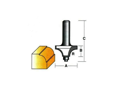 "Carb-I-Tool T602B Beading 15.9mm 1/4"" Shank"