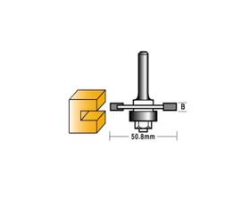 "Carbitool TA500-4MB Slotting Cutter 1/4"" Shank 4mm Groove"