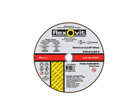 Flexovit 1823022 Stainless Steel Cut Off Wheel 230x2.5x22mm
