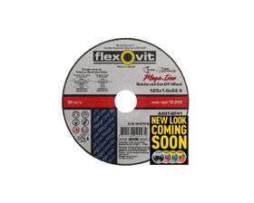 Flexovit 15127010 Stainless Steel Cut Off Wheel 125x1.0x22mm