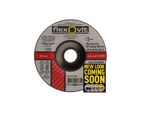 Flexovit 6012768 Metal Grinding Wheel 125x6.8x22mm