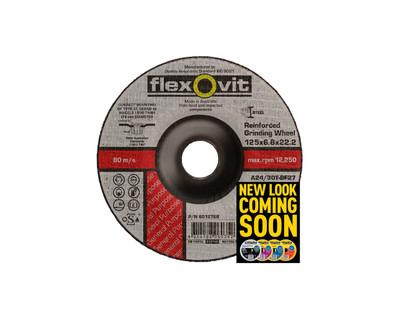Flexovit 6017845 Metal Grinding Wheel 180x4.5x22mm