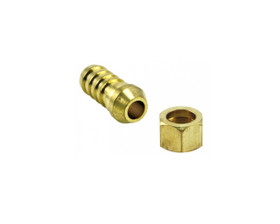 """Air Fittings P5 Nut & Tail Cone Seat 1/4"""" Barb 1/4"""""""
