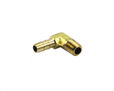 """Air Fittings P6 Elbow Male 3/8"""" Barb 1/2"""""""