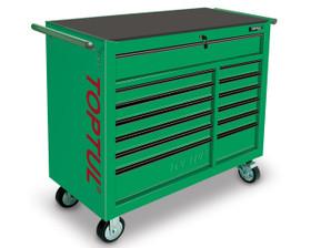 Toptul TCBA1301 Heavy Duty Mobile Work Station Green 13 Drawer