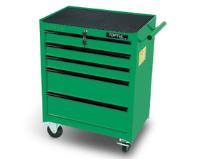 Toptul TCAB0501 Small Mobile Tool Trolley Green 5-Drawer