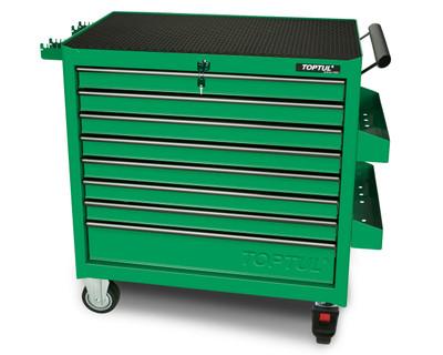 Toptul TCBA0801 Jumbo Roller Cabinet Green 8 Drawer