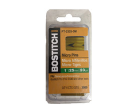 Bostitch PT-2325-3M Micro Pins 23ga 25mm (3000x)