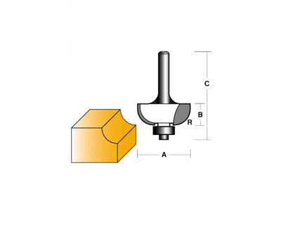 "Carb-I-Tool T708B Cove 25.4mm 1/4"" Shank"
