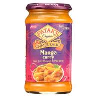 Pataks Simmer Sauce - Mango Curry - Mild - 15 oz - case of 6