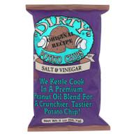 Dirty Chips Potato Chips - Salt and Vinegar - 2 oz - case of 25