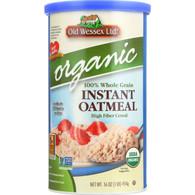 Old Wessex Oat Meal - Organic - No Salt - 16 oz - case of 12