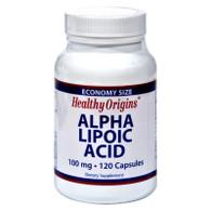 Healthy Origins Alpha Lipoic Acid - 100 mg - 120 Caps