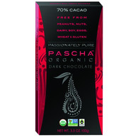Pascha Organic Chocolate Bar - Dark Chocolate - 70 Percent Cacao - 3.5 oz Bars - Case of 10
