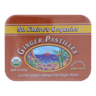 St Claire's Organics Ginger Pastilles Herbal Sweets - 1.5 oz - Case of 6