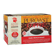 Puroast Low Acid Coffee Single Serve Cup - Dark French Roast - Case of 6 - 12 Count