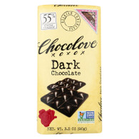 Chocolove Xoxox Premium Chocolate Bar - Dark Chocolate - Pure - 3.2 oz Bars - Case of 12