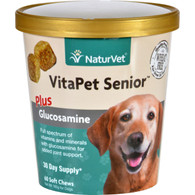 NaturVet Vitapet - Plus Glucosamine - Senior - Dogs - Cup - 60 Soft Chews