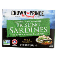 Crown Prince Brisling Sardines In Extra Virgin Olive Oil - Case of 12 - 3.75 oz.