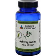 Nature's Formulary Ashwagandha - 60 Vegetarian Capsules