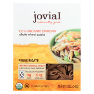 Jovial Pasta - Organic - Whole Grain Einkorn - Penne Rigate - 12 oz - case of 12