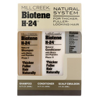 Mill Creek Biotene H-24 Tri-Pack Shampoo Conditioner Scalp Emulsion - 1 Set