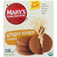 Marys Gone Crackers Cookies - Organic - Ginger Snaps - Gluten Free - 5.5 oz - case of 6