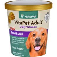 NaturVet Vitapet - Plus Breath Aid - Dog - Adult - Cup - 60 Soft Chews