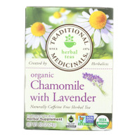 Traditional Medicinals Organic Chamomile with Lavender Herbal Tea - 16 Tea Bags