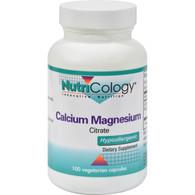 NutriCology Calcium Magnesium Citrate - 100 Vegetarian Capsules