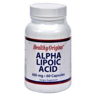 Healthy Origins Alpha Lipoic Acid - 600 mg - 60 Capsules