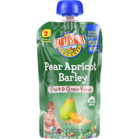 Earths Best Baby Food - Organic - Fruit and Grain Puree - Pouch - Age 6 Months Plus - Stage 2 - Pear Apricot Barley - 4.2 oz - case of 12