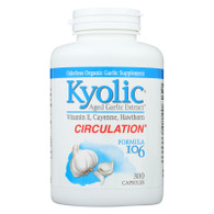 Kyolic Aged Garlic Extract Circulation Formula 106 - 300 Capsules