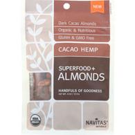Navitas Naturals Almonds - Organic - Superfood Plus - Cacao Hemp - 4 oz - case of 12