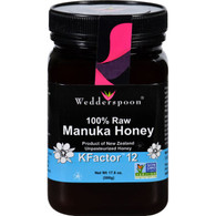 Wedderspoon Honey - Manuka - 100 Percent Raw - KFactor 12 - 17.6 oz