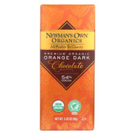 Newman's Own Organics Chocolate Bar - Organic - Dark Chocolate - Orange - 3.25 oz Bars - Case of 12