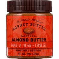 Barney Butter Almond Butter - Vanilla Bean and Espresso - 10 oz - case of 6