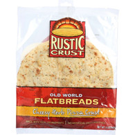 Rustic Crust Pizza Crust - Flatbread - Cheesy Herb - 13 oz - case of 8