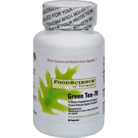 FoodScience of Vermont Green Tea-70 - 350 mg - 60 Vegetable Capsules