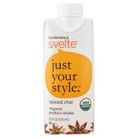 Svelte Protein Shake - Organic - Spiced Chai - 11 fl oz - Case of 8