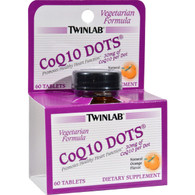 Twinlab CoQ10 Dots Natural Orange - 30 mg - 60 Tablets