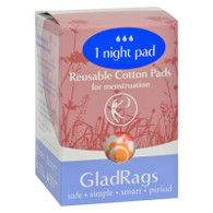 Gladrags Color Night Time Pads - 1 Pack
