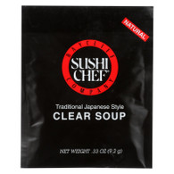 Sushi Chef Soup Mix - Clear - Traditional Japanese Stye - .33 oz - Case of 12