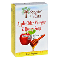 Roots and Fruits Bar Soap - Apple Cider Vinegar and Honey - 5 oz