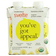 Svelte Protein Shake - Organic - Banana Creme - 11 fl oz - Case of 24