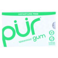 Pur Gum - Spearmint - Aspartame Free - 9 Pieces - 12.6 g - Case of 12