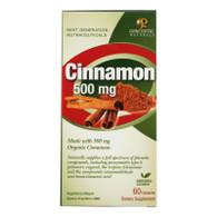 Genceutic Naturals Organic Cinnamon - 500 mg - 60 Capsules