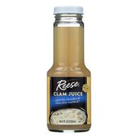 Reese Clam Juice Bottle - Case of 6 - 8 Fl oz.