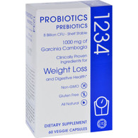 Creative Bioscience Probiotics 1234 - Prebiotics - 60 Vegetarian Capsules