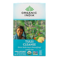 Organic India Organic Tulsi Wellness Tea - Cleanse - 18 Tea Bags - Case of 10